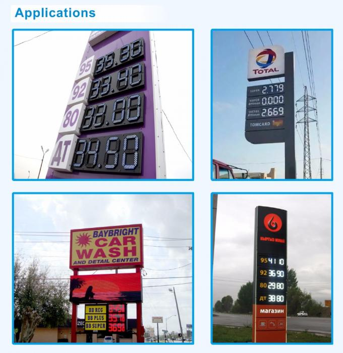 High Refresh Rate LED Gas Price Signs Waterproof Outdoor With Video Processor
