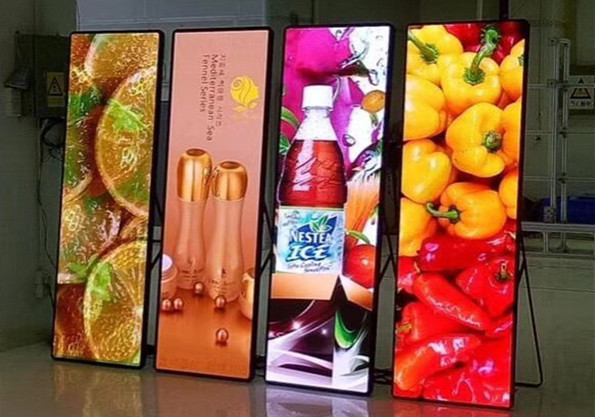 P2 / P2.5 / P3 Wall Poster LED Advertising Box Full Color ISO 9001 Approved