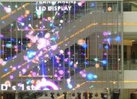 China ABT P10 High Transparent LED Screen / Glass Wall LED Display For Chain Stores factory