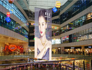 China Lightweight Transparent Video Screen P3.9 Free Movie Glass Window Display factory