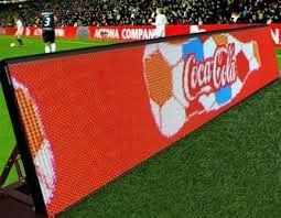 China Outdoor P10 Perimeter LED Display / LED Advertising Board For Football Field Advertising distributor