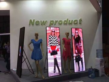 China Indoor P2.5 Full Color Poster LED Display Stand , LED Mirror Display Screen distributor