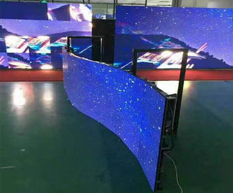 China P4.81 Full Color SMD Electronic Curved LED Display With View Large Image distributor