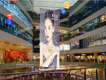China Lightweight Transparent Video Screen P3.9 Free Movie Glass Window Display distributor
